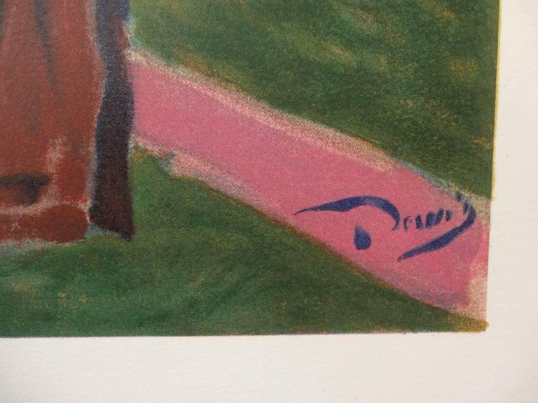 London : Hyde Park - Lithograph, 1972 - Print by (after) André Derain