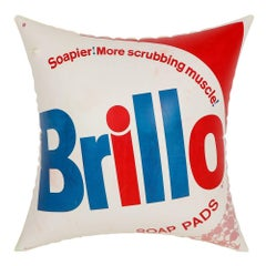 Brillo Pillow (after) Andy Warhol Pop Art Advertising Red Blue