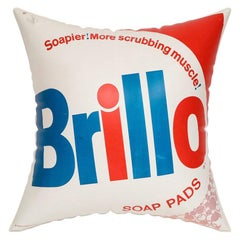 After Andy Warhol, Inflatable Brillo Pillow, Red, White, Blue, Signed