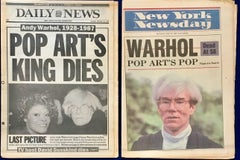 Warhol Dies! Set of 5 NY Newspapers