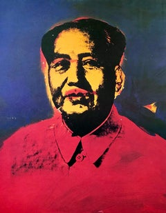 1970s Warhol Mao exhibition poster (Warhol Mao Hokin Chicago)