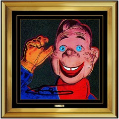 Andy Warhol Color Lithograph Hand Signed Myths Howdy Doody Original Pop Artwork