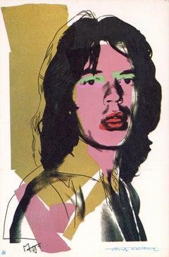 Andy Warhol Mick Jagger: portfolio of 10 Leo Castelli announcements