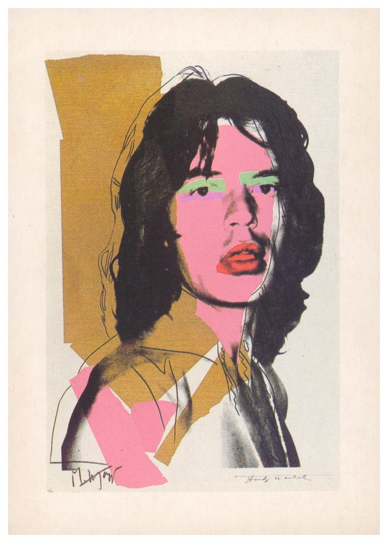 (after) Andy Warhol Portrait Print - Andy Warhol Portrait screen-prints 1965-80 (announcement cards)