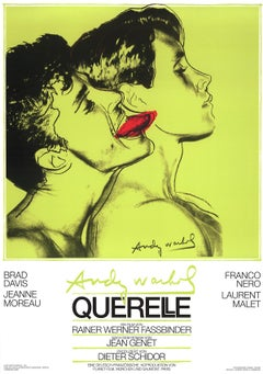 "Andy Warhol-Querelle Green-39"" x 27.5""-Poster-1983-Pop Art-Green-film, movie"