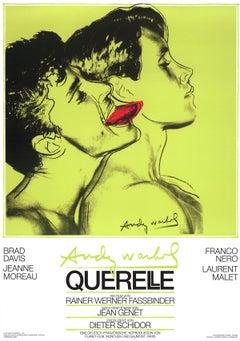 "Andy Warhol-Querelle Green-39"" x 27.5""-Poster-1983-Pop Art-Green-film, movie"