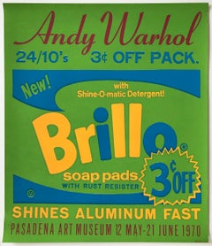 Brillo Poster for the Pasadena Art Museum, Original from 1970, American Pop Art