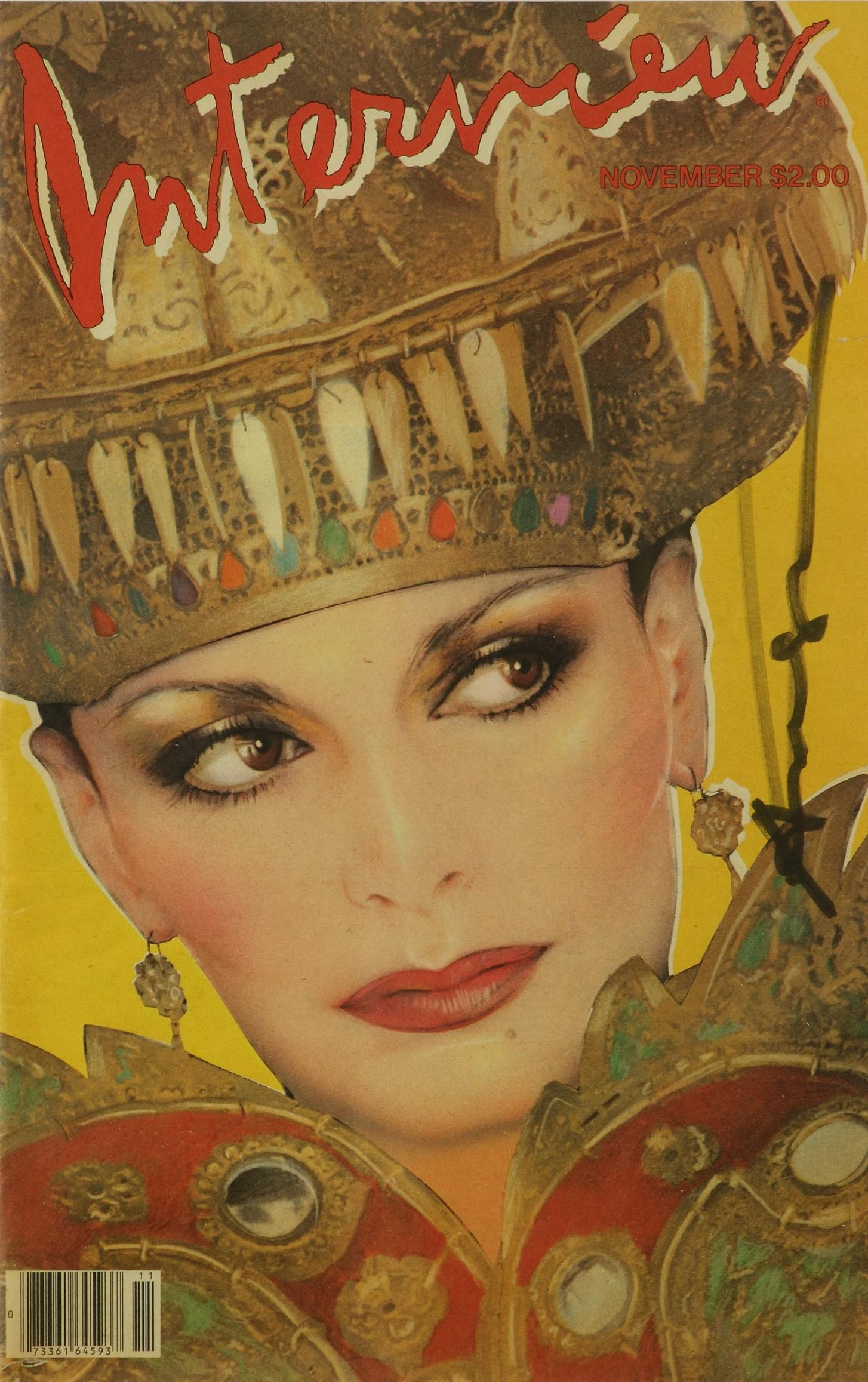 Diane Von Furstenberg Interview Cover, Signed By Andy Warhol, American, Pop Art