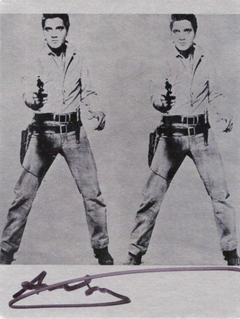 'Double Elvis' - Signed Bookplate, Gunslinger, Flaming Star, Hollywood, Music For Sale 1