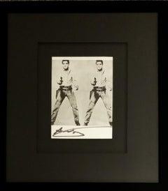 'Double Elvis' - Signed Bookplate, Gunslinger, Flaming Star, Hollywood, Music