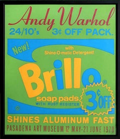 Exhibition Poster Brillo Soap Pads - Pasadena Art Museum, 1970 Screenprint