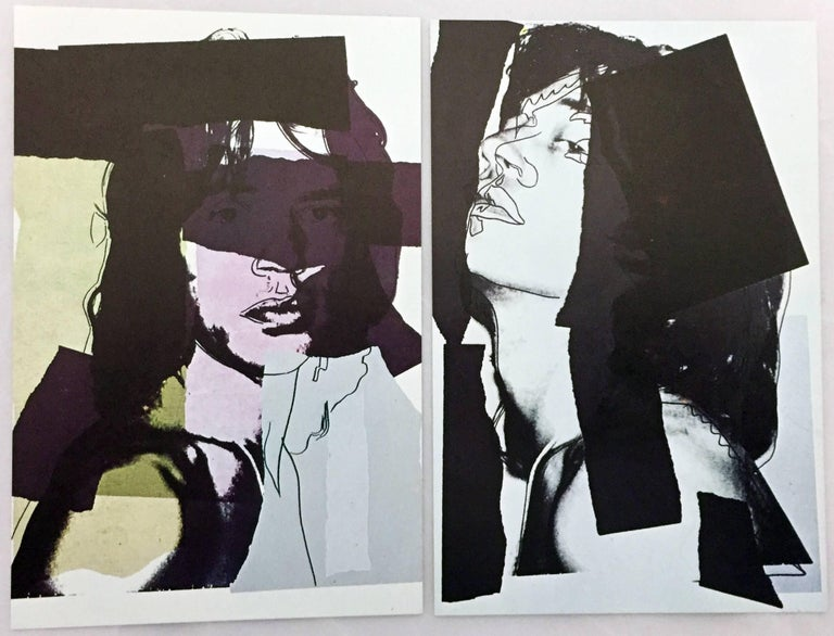 Mick Jagger, Andy Warhol, portfolio of 10 Leo Castelli announcements  For Sale 1
