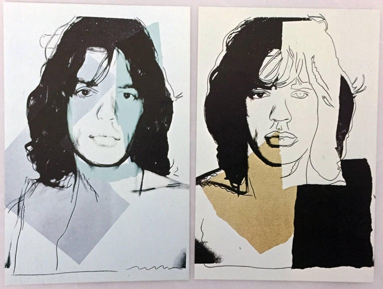 Mick Jagger, Andy Warhol, portfolio of 10 Leo Castelli announcements  For Sale 2