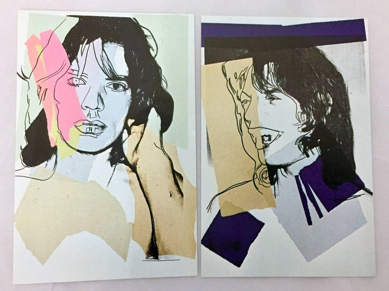 Mick Jagger, Andy Warhol, portfolio of 10 Leo Castelli announcements  For Sale 3