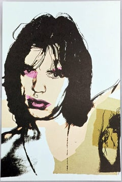 Mick Jagger, Andy Warhol, portfolio of 10 Leo Castelli announcements
