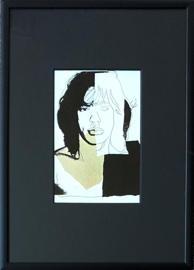 Mick Jagger II - Andy Warhol, Announcement card, Rolling Stones, Musician, Pop - Print by (after) Andy Warhol