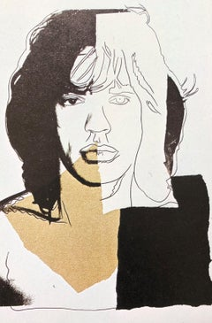 Mick Jagger II - Andy Warhol, Announcement card, Rolling Stones, Musician, Pop