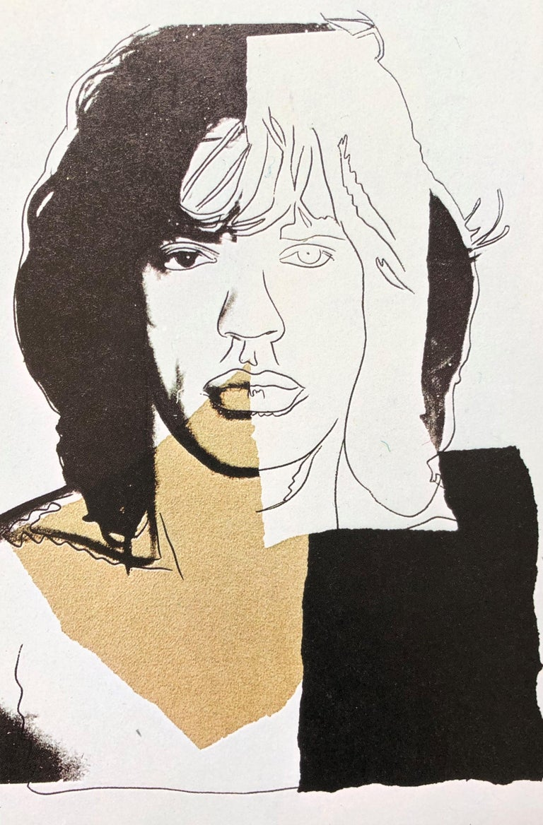 (after) Andy Warhol Portrait Print - Mick Jagger II - Andy Warhol, Announcement card, Rolling Stones, Musician, Pop