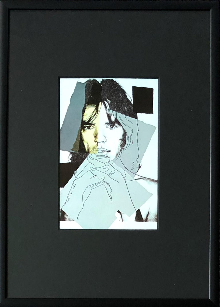 Mick Jagger IV - Andy Warhol, Announcement card, Rolling Stones, Musician, Pop - Print by (after) Andy Warhol