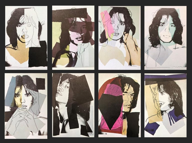 Mick Jagger IV - Andy Warhol, Announcement card, Rolling Stones, Musician, Pop - Gray Portrait Print by (after) Andy Warhol