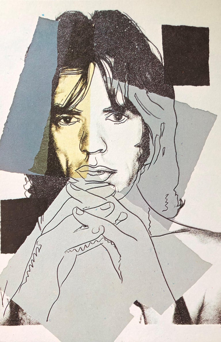 (after) Andy Warhol Portrait Print - Mick Jagger IV - Andy Warhol, Announcement card, Rolling Stones, Musician, Pop