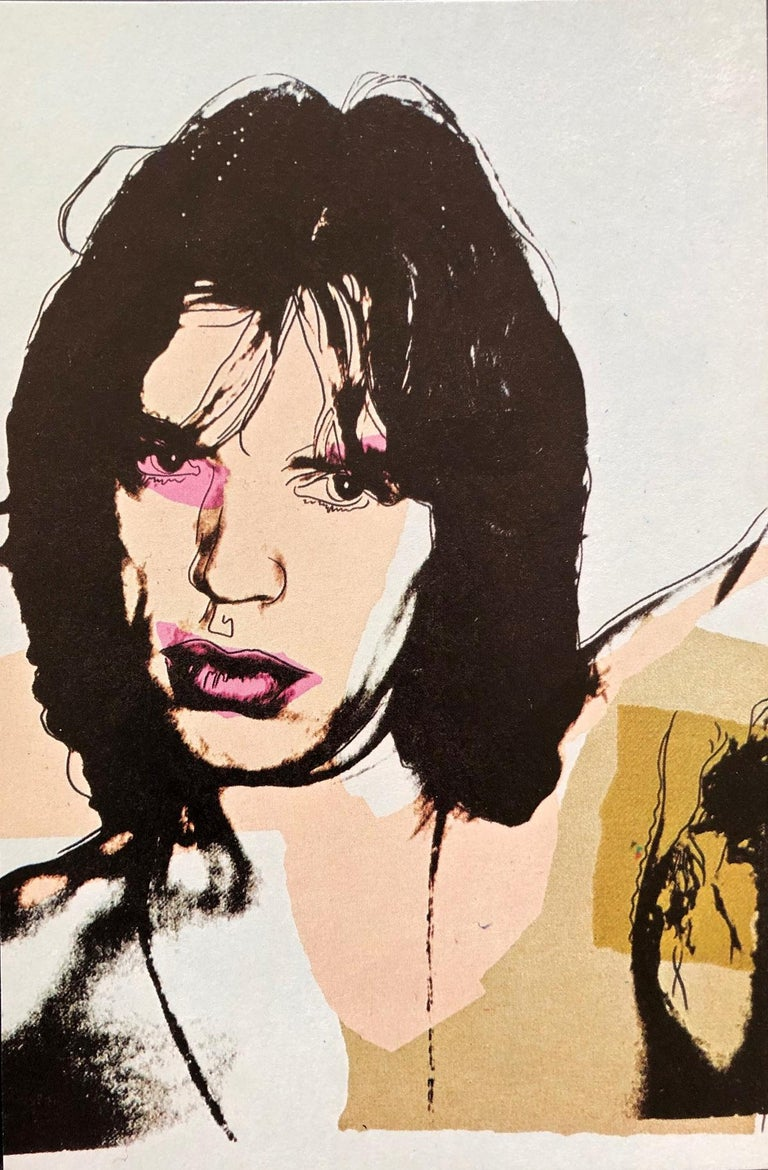 Andy Warhol, Jagger Announcement cards SET OF 10, Rolling Stones, Musician, Pop - Beige Print by (after) Andy Warhol