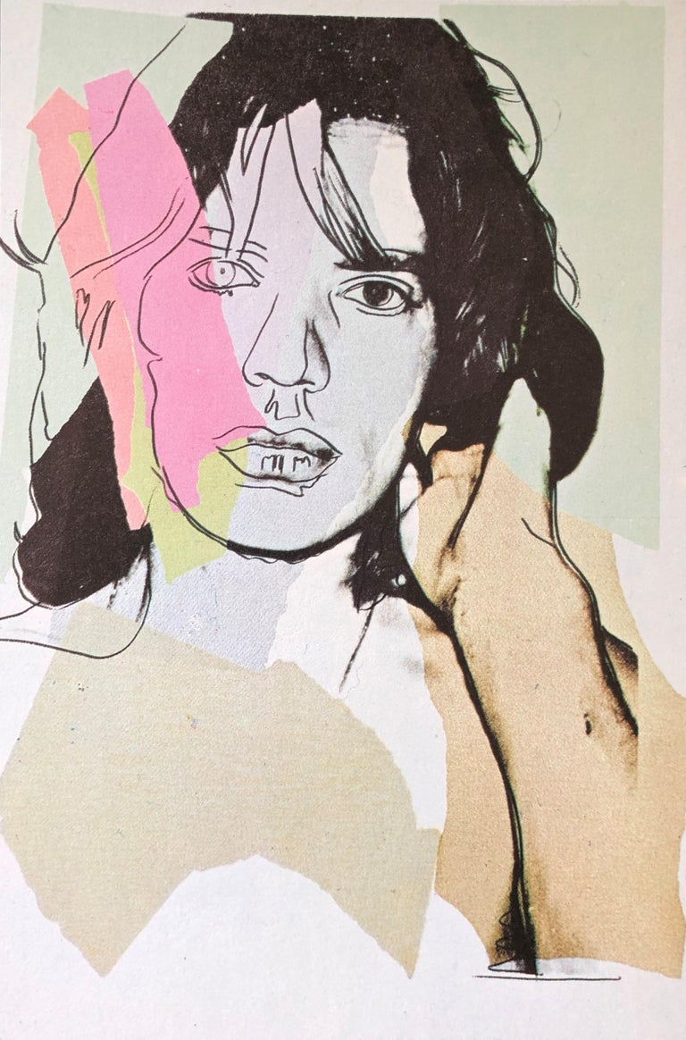 (after) Andy Warhol Portrait Print - Mick Jagger V - Andy Warhol, Announcement card, Rolling Stones, Musician, Pop