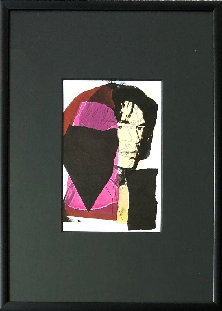 Mick Jagger VII - Andy Warhol, Announcement card, Rolling Stones, Musician, Pop - Print by (after) Andy Warhol