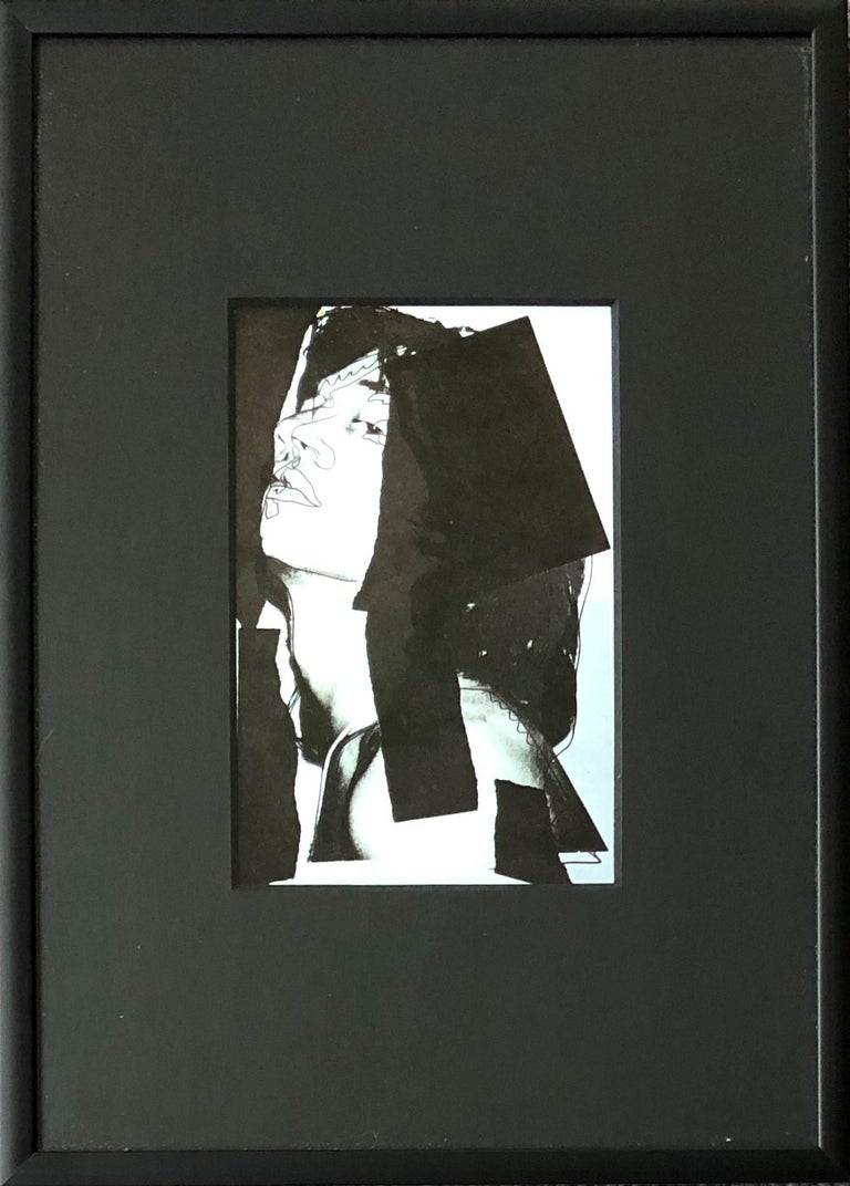 Mick Jagger X - Andy Warhol, Announcement card, Rolling Stones, Musician, Pop - Print by (after) Andy Warhol