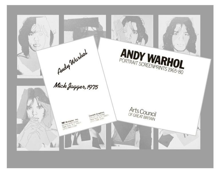 Mick Jagger X - Andy Warhol, Announcement card, Rolling Stones, Musician, Pop - Pop Art Print by (after) Andy Warhol