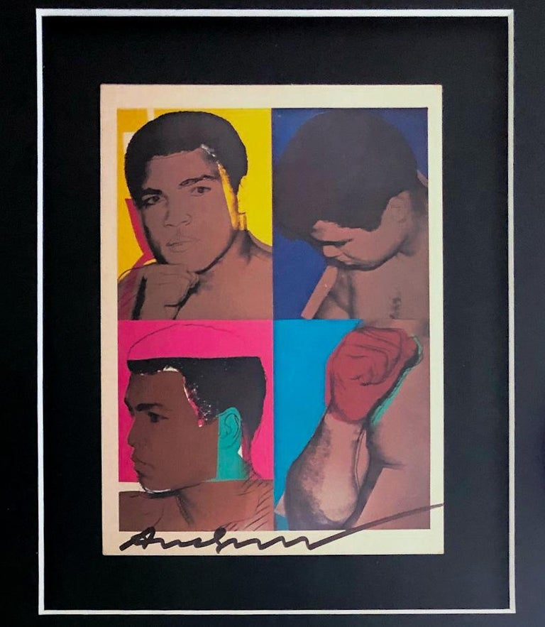 'Muhammad Ali' - Exhibition Card For Sale 1