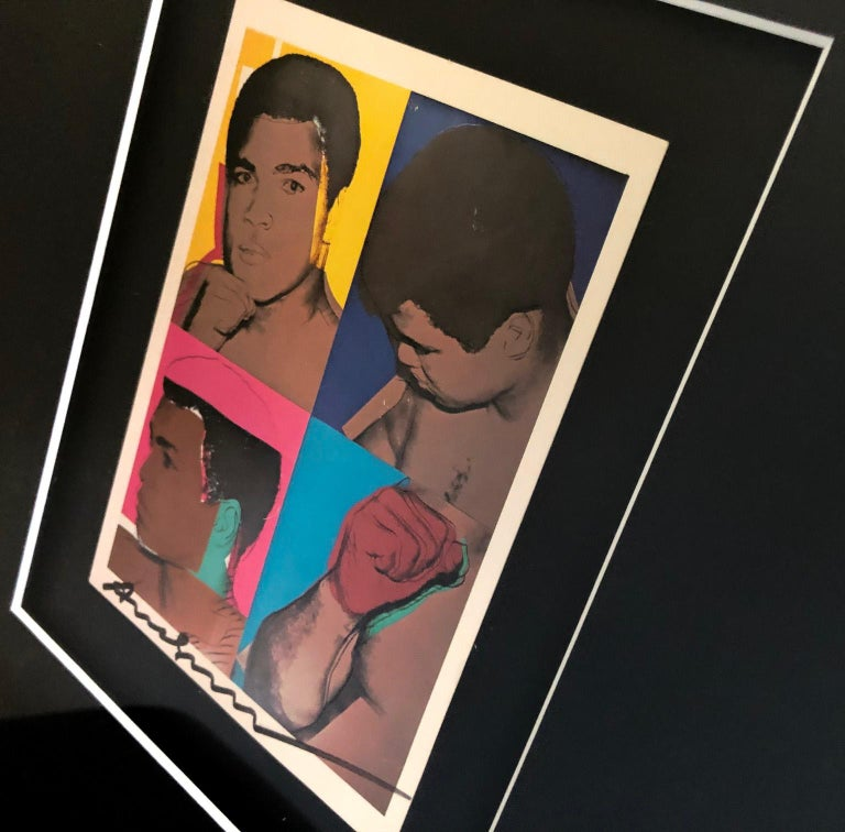 'Muhammad Ali' - Exhibition Card For Sale 3