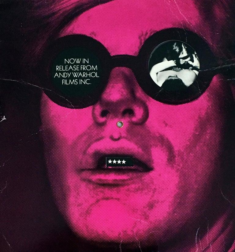 Original 1960s Andy Warhol Films promo card (60s Warhol)  For Sale 2