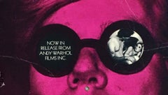 Original 1960s Andy Warhol Films promo card (60s Warhol)