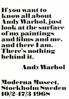 Original Vintage Modern Art Exhibition Poster Andy Warhol Paintings & Films & Me
