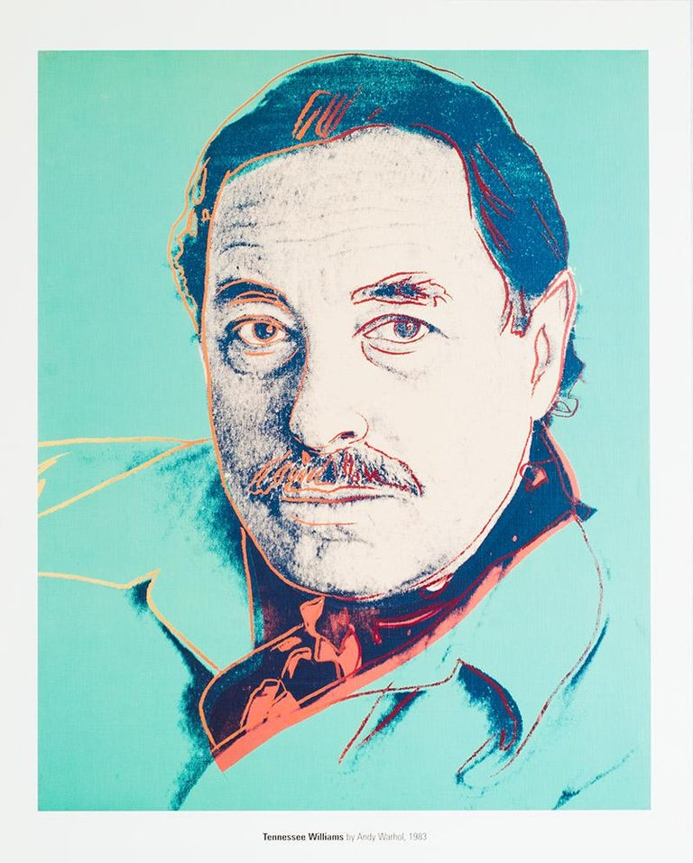 "(after) Andy Warhol Figurative Print - ""Tennessee Williams"""