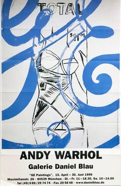 Vintage Andy Warhol exhibition poster (Warhol GE paintings)