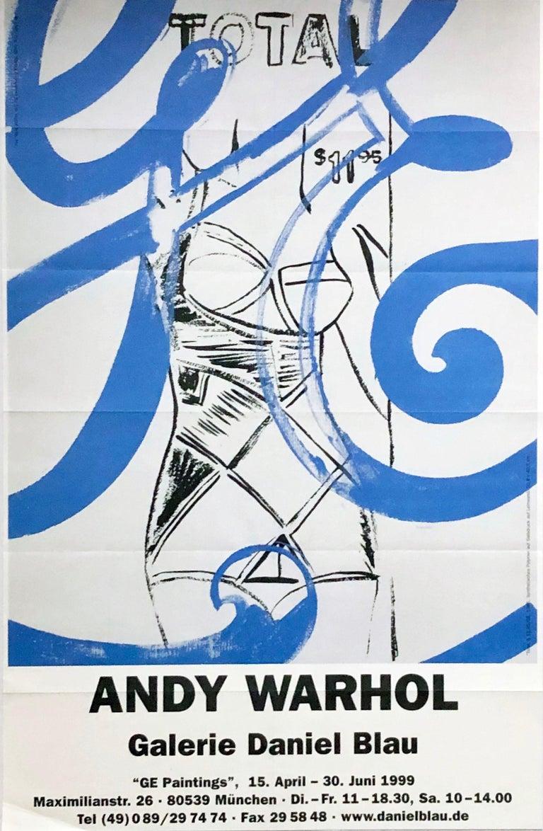 (after) Andy Warhol Nude Print - Vintage Andy Warhol exhibition poster (Warhol GE paintings)