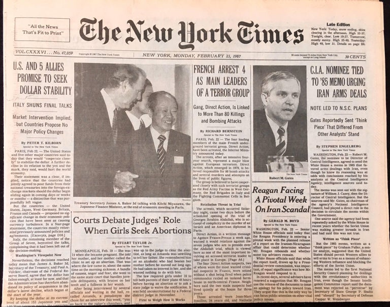Warhol Dies! set of 4 NY newspapers announcing the death of Andy Warhol For Sale 1