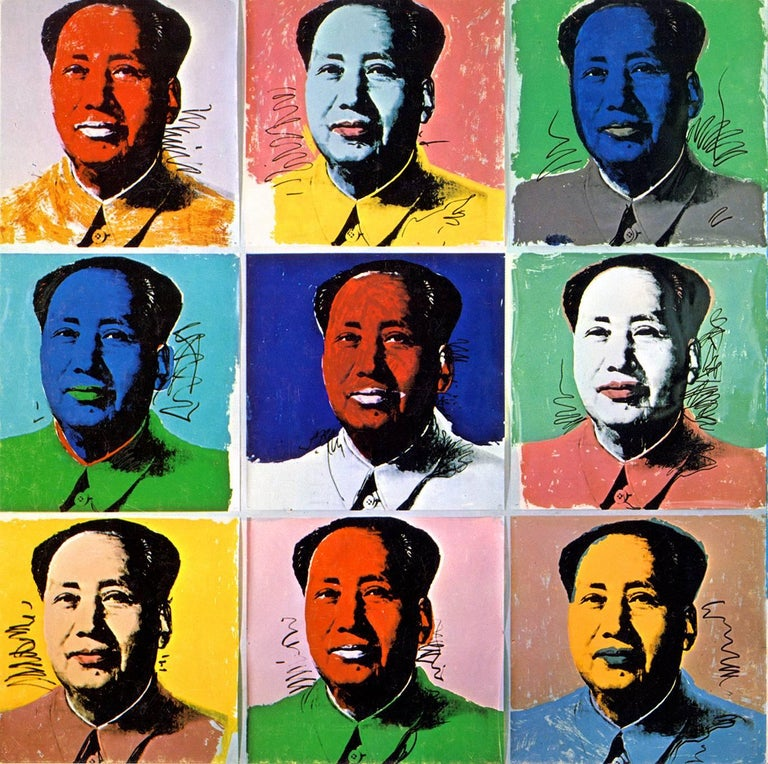 Andy Warhol at Leo Castelli 1972:  Leo Castelli released this colorful Warhol Mao invitation card in 1972 in an effort to promote Andy Warhol's soon-to-be-released portfolio of ten screen-prints of the iconic Chinese leader, printed at Styria Studio