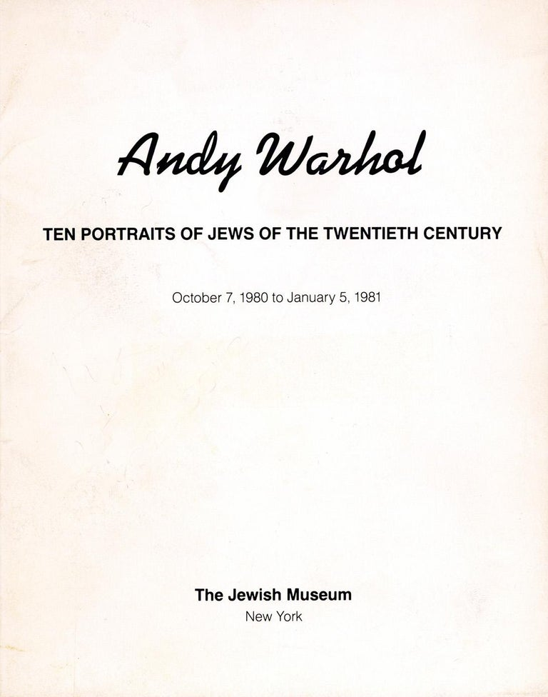 Warhol Portraits of Jews of the 20th Century  (set of 10 Warhol announcements)  For Sale 7