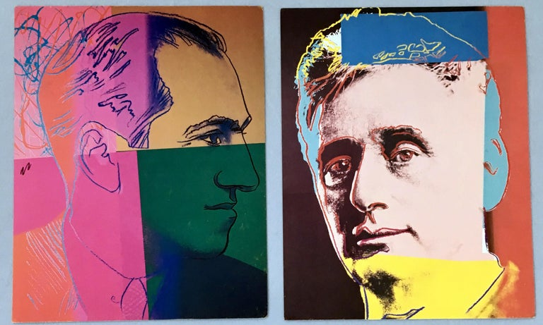 Warhol Portraits of Jews of the 20th Century  (set of 10 Warhol announcements)  For Sale 1