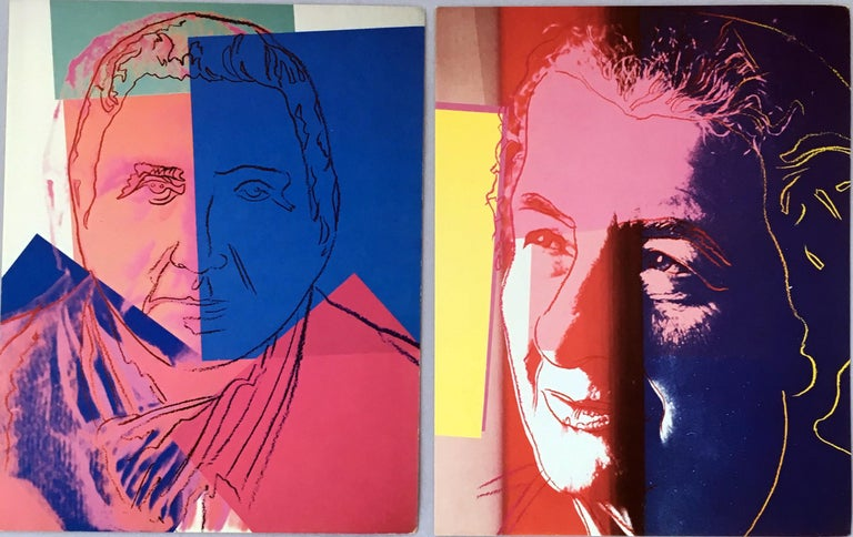 Warhol Portraits of Jews of the 20th Century  (set of 10 Warhol announcements)  For Sale 3
