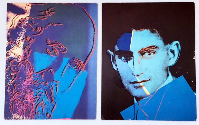 Warhol Portraits of Jews of the 20th Century  (set of 10 Warhol announcements)  For Sale 4