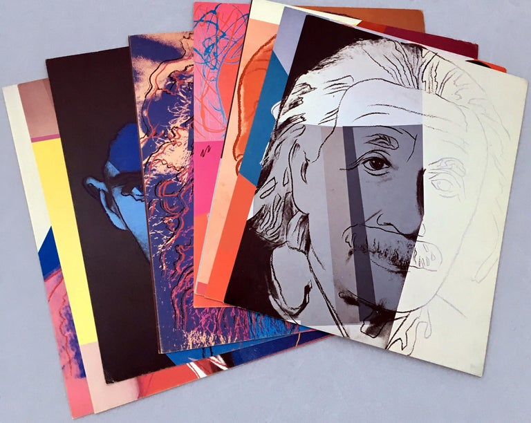 Warhol Portraits of Jews of the 20th Century  (set of 10 Warhol announcements)  For Sale 5