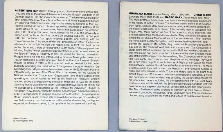 Warhol Portraits of Jews of the 20th Century  (set of 10 Warhol announcements)  For Sale 6