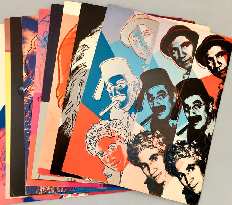 Warhol Portraits of Jews of the 20th Century  (set of 10 Warhol announcements)  - Pop Art Print by (after) Andy Warhol