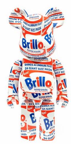 Andy Warhol Be@rbrick 1000% companion (Warhol Brillo Be@rbrick)