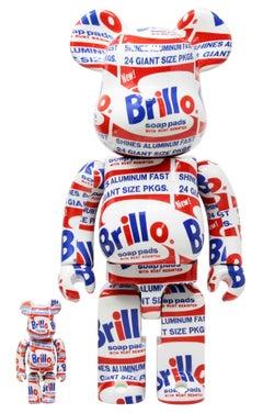Andy Warhol Be@rbrick 400% companion (Warhol Brillo Be@rbrick)
