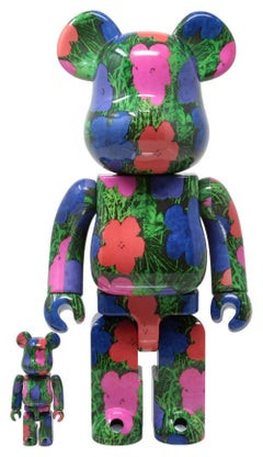 Andy Warhol Flowers Bearbrick 400% Companion (Warhol BE@RBRICK 400%)